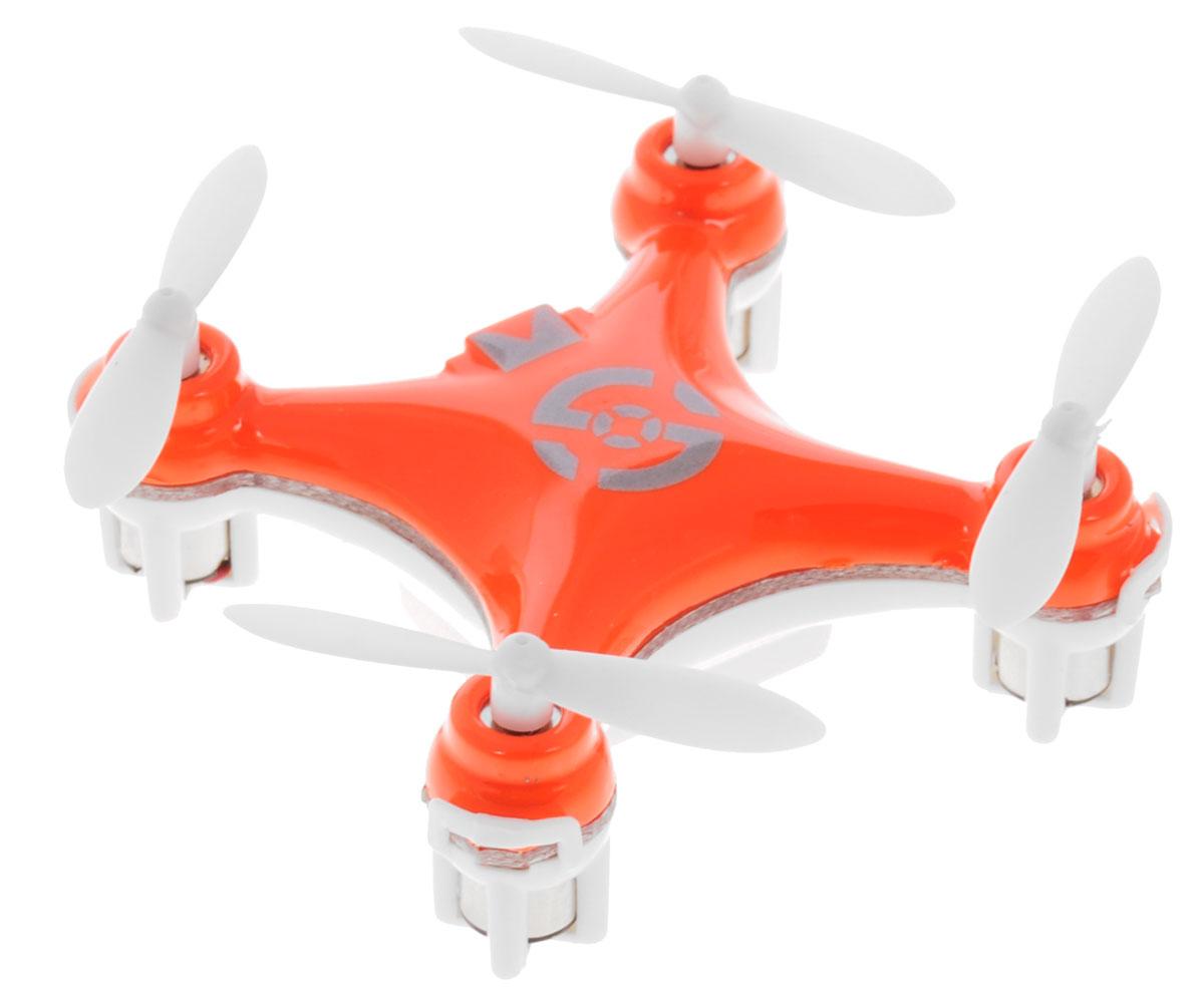 Bluesea Квадрокоптер на радиоуправлении CX-10 цвет оранжевыйCX-10Квадрокоптер на радиоуправлении Bluesea CX-10 с четырехканальным управлением непременно понравится вашему ребенку. В модели применен гироскоп, который придает устойчивость при полете. Квадрокоптер может подниматься, опускаться, двигаться вперед и назад, а также поворачиваться на 360 градусов. Управление осуществляется с помощью пульта дистанционного управления. Управлять машиной легко, она послушно двигается в нужную сторону. Квадрокоптер оснащен профессиональным передатчиком с частотой 2,4 GHz. Прочный пластиковый корпус защитит модель от ударов и повреждений. Благодаря компактным размерам игрушка подходит для полетов в закрытых помещениях. Радиоуправляемые игрушки развивают многочисленные способности ребенка - мелкую моторику, пространственное мышление, реакцию и логику. Квадрокоптер работает от встроенного аккумулятора, который заряжается с помощью USB. Для работы пульта управления необходимо докупить 2 батарейки напряжением 1,5V типа АА (в комплект...