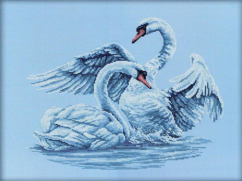 Наборы для вышивания лебединая верность