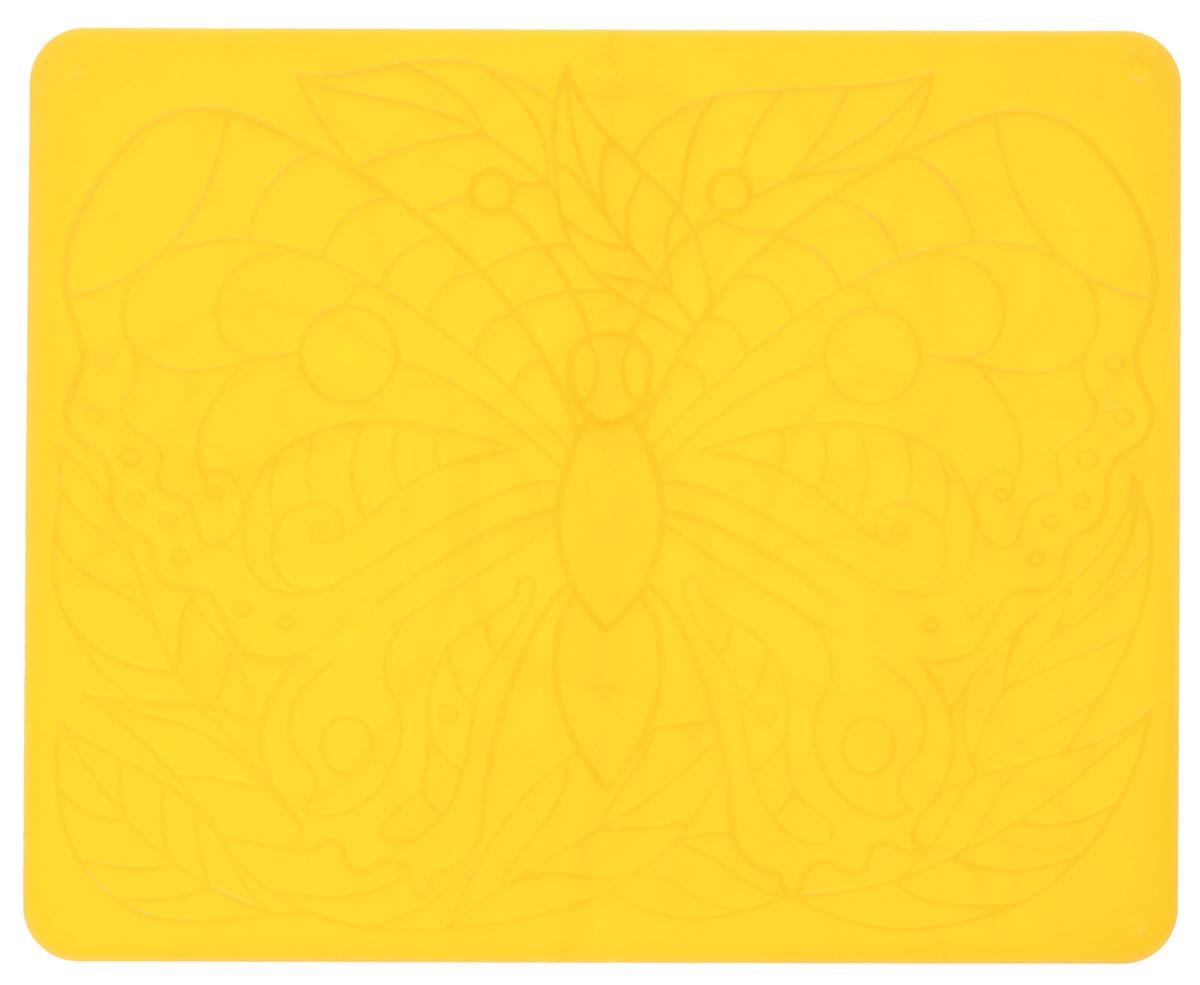 Луч Трафарет рельефный Бабочки цвет желтый
