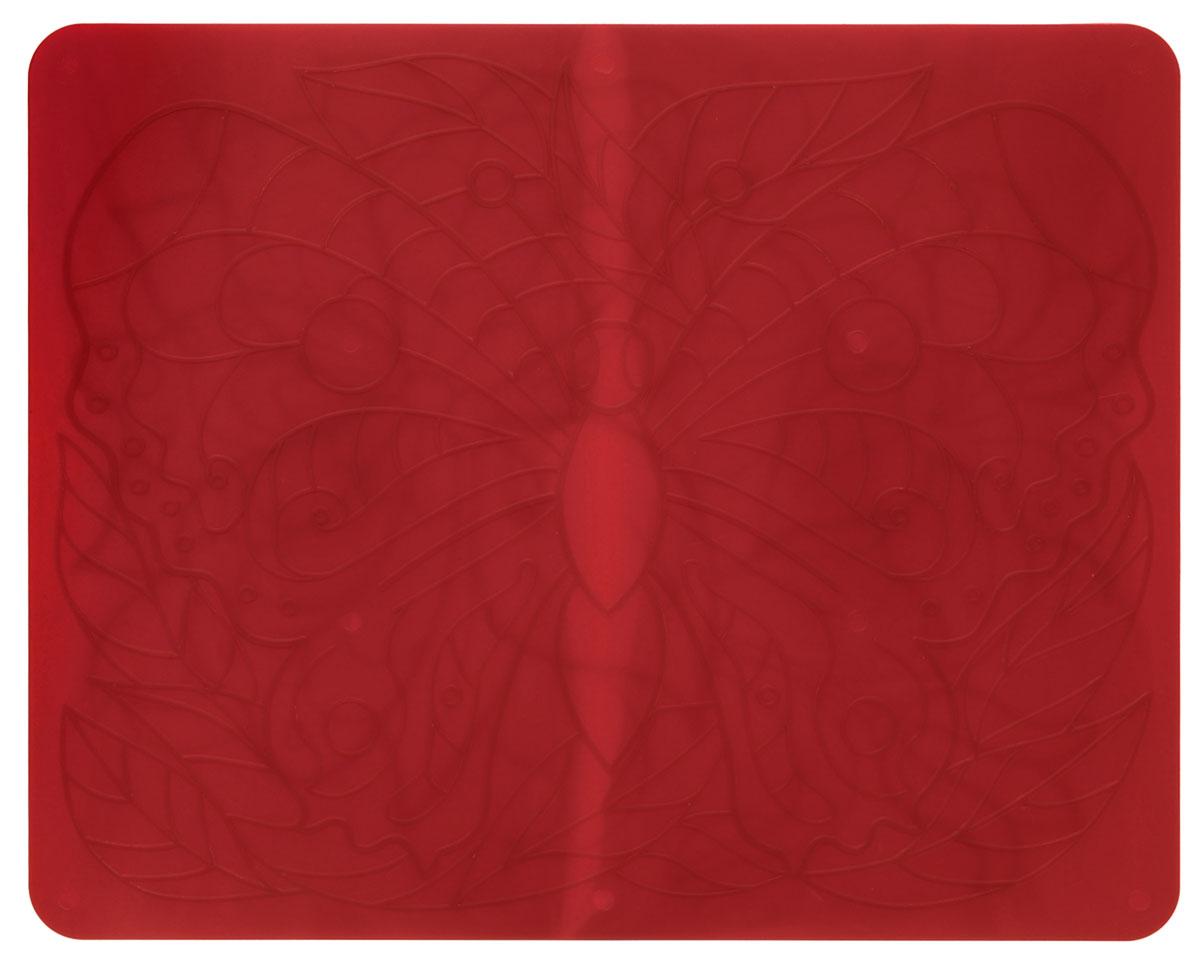 Луч Трафарет рельефный Бабочки цвет красный