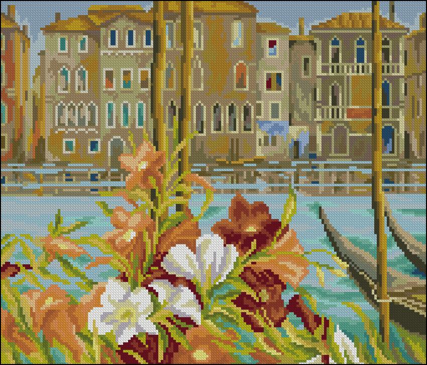 Набор для вышивания крестом RTO Весна в Венеции, 27 х 23 смM386Красивый рисунок-вышивка, выполненный на канве, выглядит оригинально и всегда модно. Работа, сделанная своими руками, создаст особый уют и атмосферу в доме и долгие годы будет радовать вас и ваших близких. Набор для вышивания RTO Весна в Венеции содержит все необходимые материалы. Вышивка выполняется швом счетный крест в две нити мулине. В состав набора входит: - канва Aida 16 молочного цвета (100% хлопок), 6,4 клеток = 1 см; - вышивальные нитки-мулине DMC на карте, разобранные по цветам (44 цвета, 100% хлопок); - символьная схема; - инструкция; - игла для вышивания. Уровень сложности: 3.