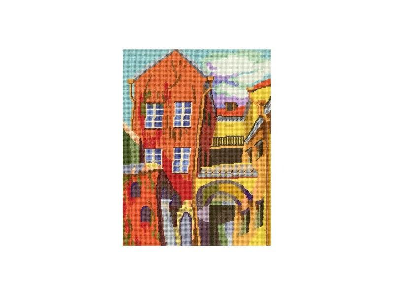 Набор для вышивания крестом RTO Разноцветный дворик, 17 х 23 смМ455Красивый рисунок-вышивка, выполненный на канве, выглядит оригинально и всегда модно. Работа, сделанная своими руками, создаст особый уют и атмосферу в доме и долгие годы будет радовать вас и ваших близких. Набор для вышивания RTO Разноцветный дворик содержит все необходимые материалы. Вышивка выполняется швом счетный крест в две нити мулине. В состав набора входит: - канва Aida 18 белого цвета (100% хлопок), 7 клеток = 1 см; - вышивальные нитки-мулине DMC на карте, разобранные по цветам (38 цветов, 100% хлопок); - символьная схема; - инструкция; - игла для вышивания. Уровень сложности: 3.