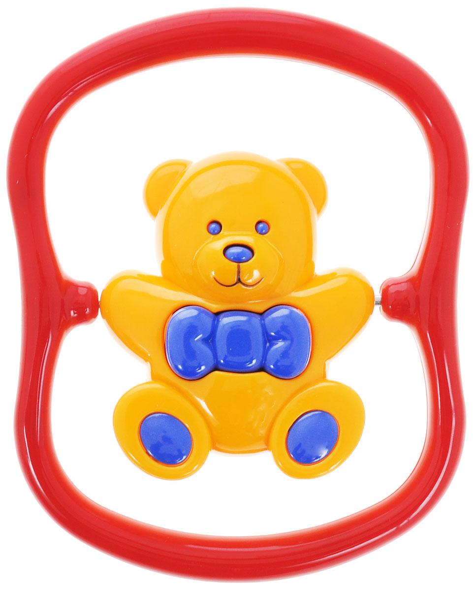 Tolo Погремушка Медвежонок86130Погремушка Медвежонок от компании Tolo - это забавный мишка желтого цвета с пышным синим бантиком, который крутится внутри рамочки-держателя. Погремушку можно и просто потрясти, чтобы услышать гремящий звук. У игрушки нет заостренных краев и углов, а изготовлена она из безопасного пластика. В игрушке использованы насыщенные, приятные цвета - синий, желтый, красный. Погремушка отлично подходит для раннего развития крохи: стимулирует к действию (схватить, потрясти, покрутить), развивает цветовое и звуковое восприятие.