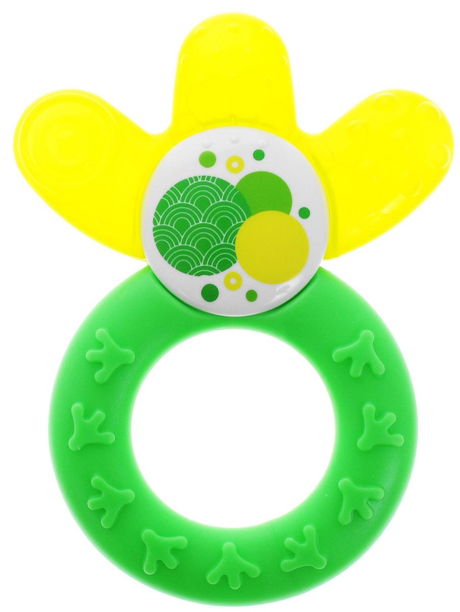 MAM Прорезыватель охлаждающий Cooler цвет синий зеленый6580/2_ зеленый, желтыйПрорезыватель Cooler cooling teether - многофункциональная игрушка для малыша. Прорезыватель изготовлен в форме кольца с тремя лепестками. Поверхность лепестков, заполненная водой, охлаждает десны, снимая болевые ощущения. Рифленая поверхность, массируя десны, стимулирует рост зубов. Кроме того, игрушка с текстурированной поверхностью предназначена для тренировки мелкой моторики пальчиков ребенка. Прорезыватель не содержит Бисфенол-А.