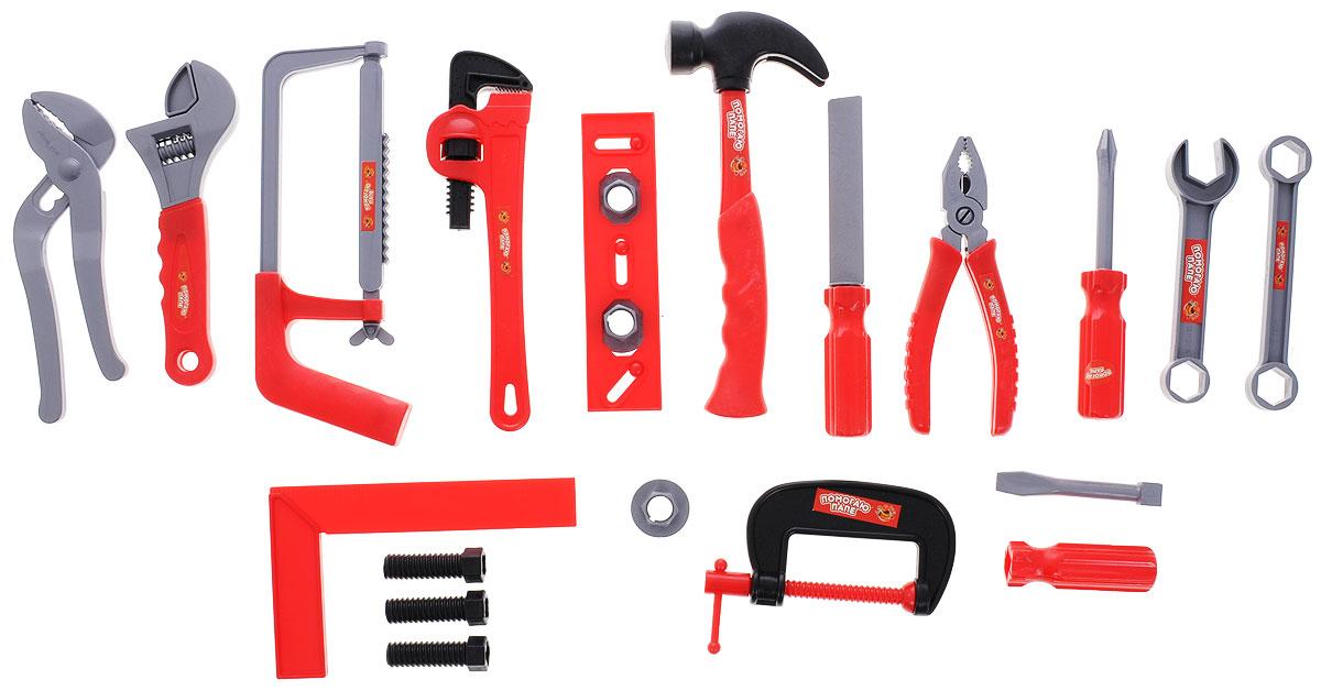 ABtoys Набор инструментов цвет красныйPT-00272Мальчишки обожают наблюдать, когда их папы что-нибудь ремонтируют, или мастерят. Дети очень хотят чем-нибудь помочь, но взрослые инструменты небезопасны для малыша, ими легко пораниться. Детский набор инструментов поможет малышу безопасно познакомиться с разными видами инструментов, приобрести первые навыки работы с ними и почувствовать себя настоящим маленьким мастером. Набор выполнен из высококачественного пластика и включает в себя копии реальных инструментов. Набор инструментов поможет мальчику с детства научиться быть хозяином в доме и выполнять мужскую работу. Этот набор отлично подойдет для игр ребенка дома и на свежем воздухе. Порадуйте своего юного строителя таким замечательным подарком!