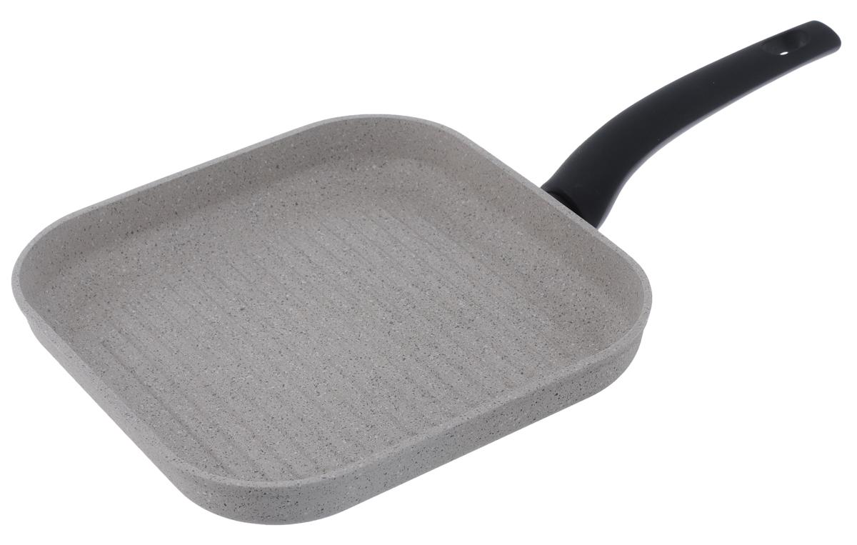 Сковорода-гриль Nadoba Marmia, с антипригарным покрытием, 27 х 27 см728320Сковорода-гриль Nadoba Marmia выполнена из кованого алюминия с прочным 5-слойным антипригарным покрытием QuanTanium на основе титана. Изделие оснащено ненагревающейся бакелитовой ручкой с покрытием Soft-touch. Допустимо использование металлических инструментов. Подходит для использования на всех типах плит, включая индукционных. Можно мыть в посудомоечной машине. Размер сковороды: 27 х 27 см. Высота стенки: 4,3 см. Толщина стенки: 4 мм. Толщина дна: 4 мм. Длина ручки: 20 см. Диаметр индукционного диска: 21 см.