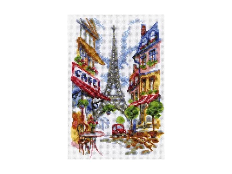 Набор для вышивания крестом RTO Уютный уголок Парижа, 15 х 23 смM292Красивый рисунок-вышивка, выполненный на канве, выглядит оригинально и всегда модно. Работа, сделанная своими руками, создаст особый уют и атмосферу в доме и долгие годы будет радовать вас и ваших близких. Набор для вышивания RTO Уютный уголок Парижа содержит все необходимые материалы. Вышивка выполняется швом счетный крест в две нити мулине. В состав набора входит: - канва Aida 14 белого цвета (100% хлопок), 5,5 клеток = 1 см; - вышивальные нитки-мулине DMC на карте, разобранные по цветам (31 цвет, 100% хлопок); - символьная схема; - инструкция; - игла для вышивания. Уровень сложности: 3.