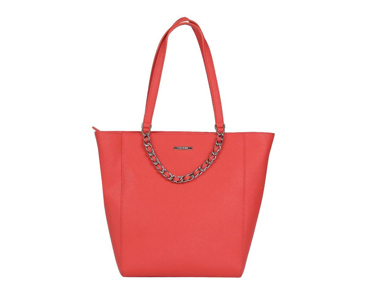 Сумка женская Galaday, цвет: коралловый. GD5169QGD5169Q-orangeСтильная женская сумка Galaday выполнена из натуральной кожи с фактурным тиснением, оформлена декоративной подвеской и символикой бренда. Изделие содержит одно отделение, которое закрывается на молнию. Внутри расположены два накладных кармашка для мелочей, карман-средник на молнии и врезной карман на молнии. Снаружи, на задней стороне сумки, расположен врезной карман на застежке-молнии. Сумка оснащена двумя практичными ручками для переноски. Оригинальный аксессуар позволит вам завершить образ и быть неотразимой.