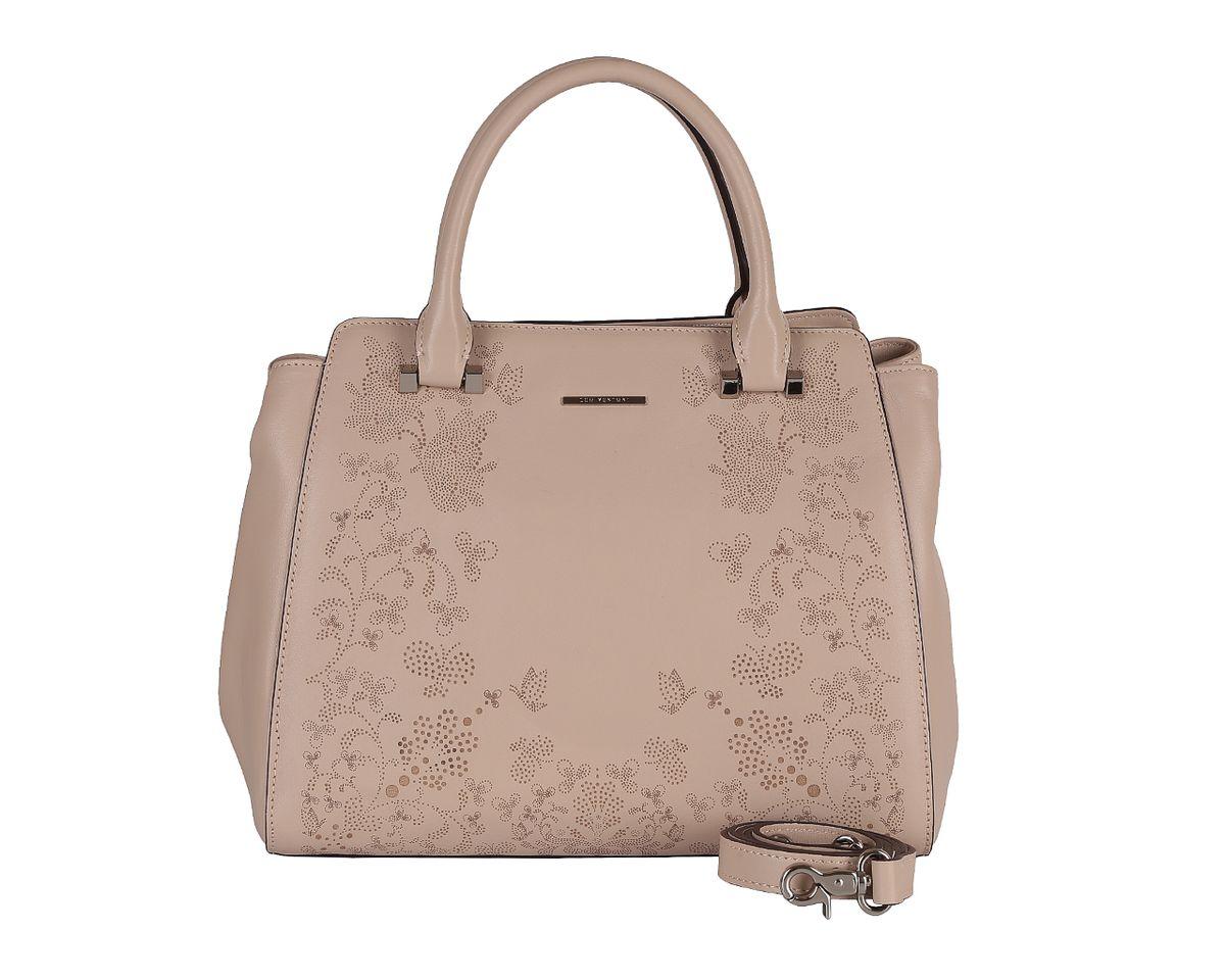 Сумка женская Leo Ventoni, цвет: бежевый. 2300426123004261 beigeСтильная женская сумка Leo Ventoni выполнена из натуральной кожи, оформлена металлической фурнитурой. Изделие содержит одно отделение, которое закрывается на застежку-молнию. Внутри расположены: два накладных кармашка для мелочей, врезной карман на молнии, карман-средник на молнии. На задней стороне сумки расположен врезной карман на молнии. Сумка оснащена двумя практичными ручками и съемным плечевым ремнем. Дно изделия дополнено металлическими ножками. Оригинальный аксессуар позволит вам завершить образ и быть неотразимой.