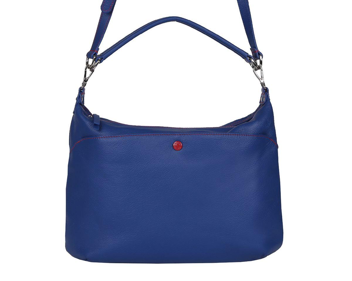 Сумка женская Palio, цвет: синий. 14423A-89514423A-895 blueСтильная женская сумка Palio выполнена из натуральной кожи, оформлена металлической фурнитурой с символикой бренда и контрастной строчкой. Изделие содержит одно отделение, которое закрывается на молнию. Внутри расположены два накладных кармашка для мелочей, карман-средник на молнии и врезной карман на молнии. Снаружи, на задней стороне сумки расположен врезной карман на застежке-молнии. Лицевая сторона сумки дополнена накладным карманом на магнитной кнопке. Сумка оснащена съемной ручкой для переноски и съемным плечевым ремнем регулируемой длины. Оригинальный аксессуар позволит вам завершить образ и быть неотразимой.