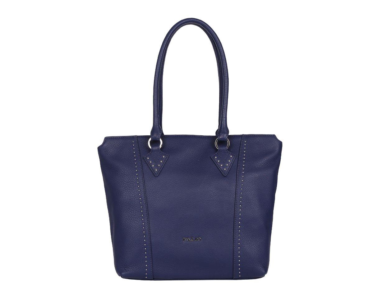 Сумка женская Palio, цвет: синий. 14385AR-89714385AR-897 blueСтильная женская сумка Palio выполнена из натуральной кожи, оформлена металлической фурнитурой с символикой бренда. Изделие содержит одно отделение, которое закрывается на молнию. Внутри расположены два накладных кармашка для мелочей, карман-средник на молнии и врезной карман на молнии. Снаружи, на задней стороне изделия, расположен врезной карман на молнии. Сумка оснащена двумя практичными ручками. Оригинальный аксессуар позволит вам завершить образ и быть неотразимой.