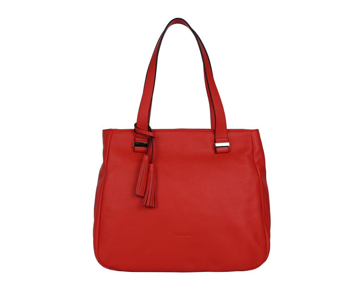 Сумка женская Palio, цвет: красный. 14350A-35314350A-353 redСтильная женская сумка Palio выполнена из натуральной кожи, оформлена декоративной подвеской металлической фурнитурой и тиснением с символикой бренда. Изделие содержит одно отделение, которое закрывается на молнию. Внутри расположены два накладных кармашка для мелочей, карман-средник на молнии и врезной карман на молнии. Снаружи, на задней стороне изделия, расположен врезной карман на молнии. Сумка оснащена двумя практичными ручками. Оригинальный аксессуар позволит вам завершить образ и быть неотразимой.