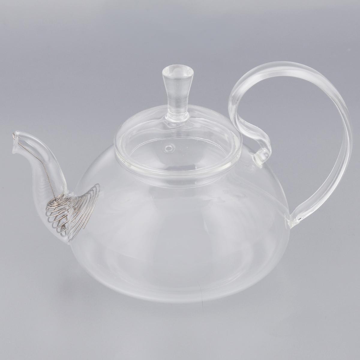 Чайник заварочный Xinya Георгин, с фильтр-пружинкой, 500 мл02383Элегантный чайник Xinya Георгин, изготовленный из высококачественного стекла, порадует своей оригинальной формой. Изящная изогнутая ручка позволяет крепко держать чайник в руке. Крышка уберегает от ожогов, а оригинальное сито, зафиксированное на носике чайника, прекрасно фильтрует чайный настой. Изделие предназначено для подачи как горячих, так и холодных напитков. Заварочный чайник Xinya Георгин станет великолепным подарком для любителей чая. Диаметр чайника (по верхнему краю): 7 см. Высота чайника (без учета крышки): 8 см.
