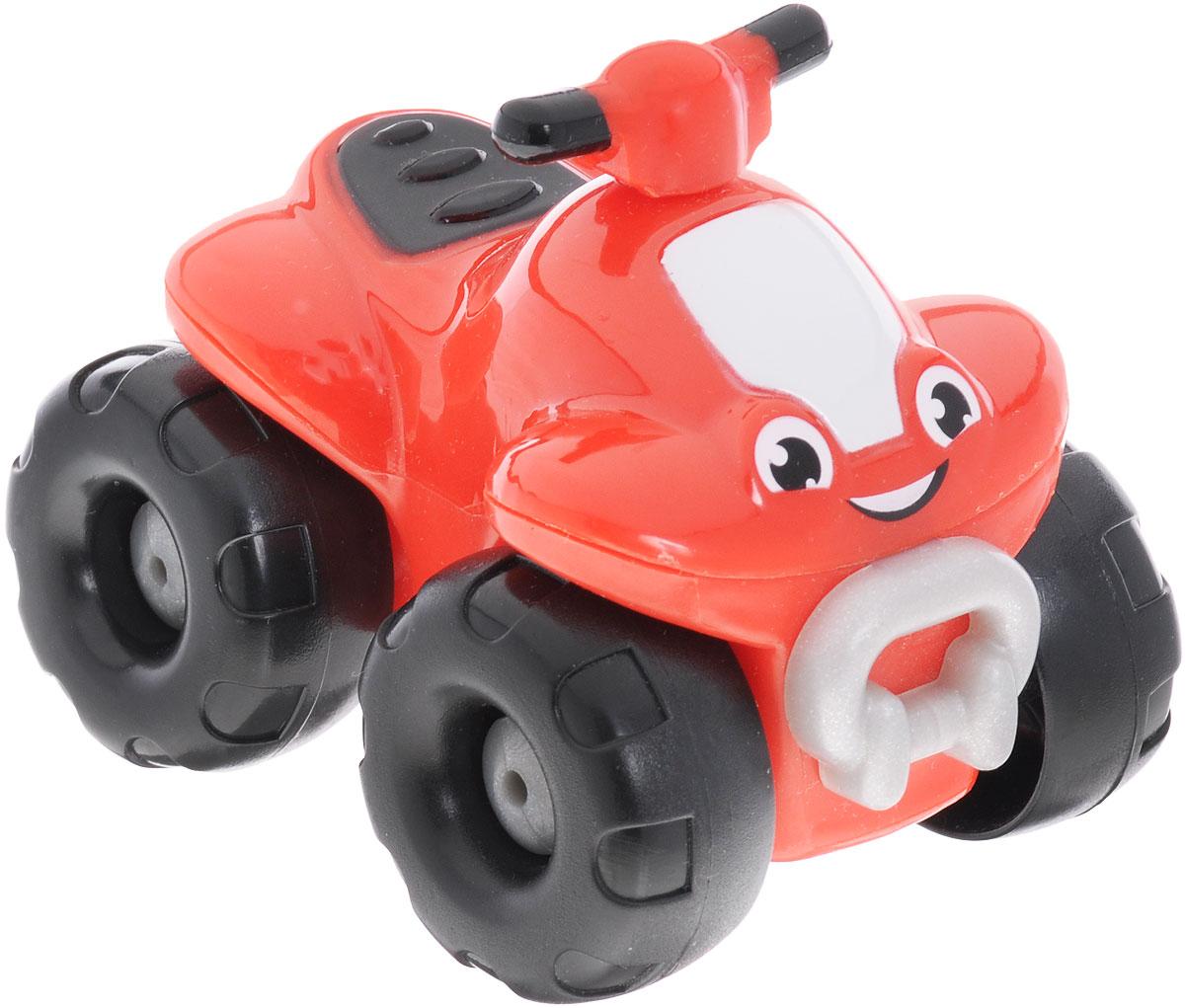 Smoby Квадроцикл Vroom Planet211284Квадроцикл из серии Vroom Planet непременно привлечет внимание малыша, благодаря яркой расцветке и оригинальному дизайну. Игрушка выполнена из абсолютно безопасного для малыша высококачественного пластика. Квадроцикл красного цвета с большими черными колесами. Игра с машинками помогает развивать мелкую моторику, цветовосприятие, координацию движений. Порадуйте своего малыша таким замечательным подарком.