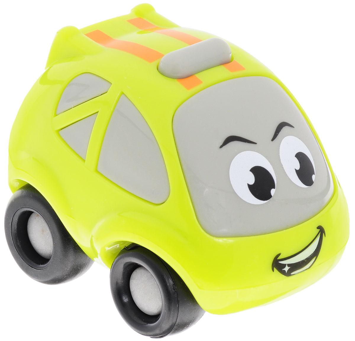 Smoby Машинка с моторчиком Vroom Planet211287Мини-машинка из серии Vroom Planet непременно привлечет внимание малыша. Игрушка выполнена из абсолютно безопасного для малыша высококачественного пластика. Машинка снабжена особым двигателем, при помощи которого она может ездить самостоятельно. Двигатель начинает работать после нажатия на кнопку на крыше автомобильчика. Игра с машинкой помогает развивать мелкую моторику, цветовосприятие и координацию движений. Порадуйте своего малыша таким замечательным подарком. Питание: 1 батарейка напряжением 1,5V типа LR03/ААА (входит в комплект).