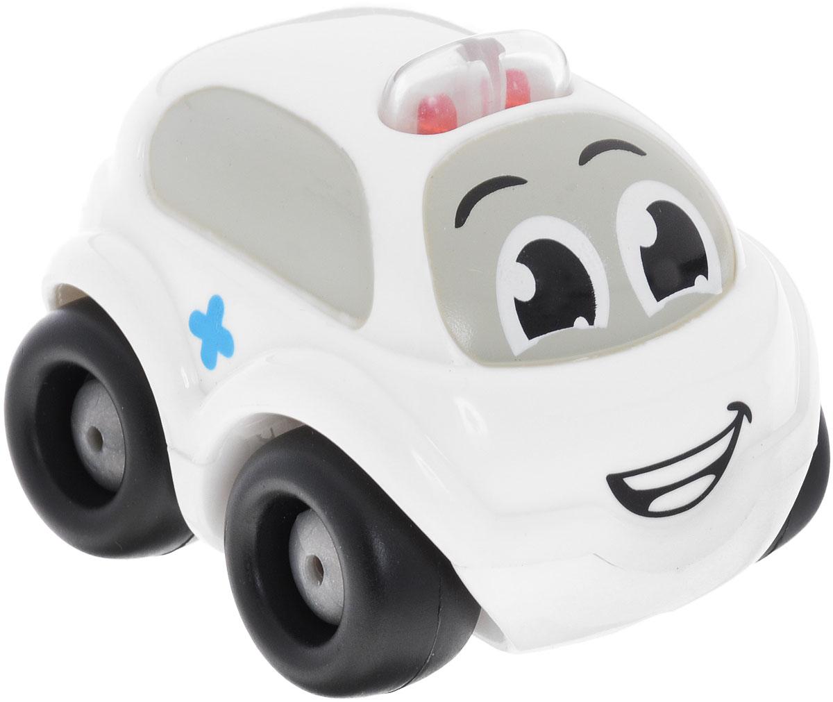 Smoby Электронная мини-машинка цвет белый750029Внимание! Возможно проглатывание мелких деталей.Пользоваться только под непосредственным контролем взрослых с соблюдением необходимой предосторожности. Не обеспечивает защиты при несчастном случае.