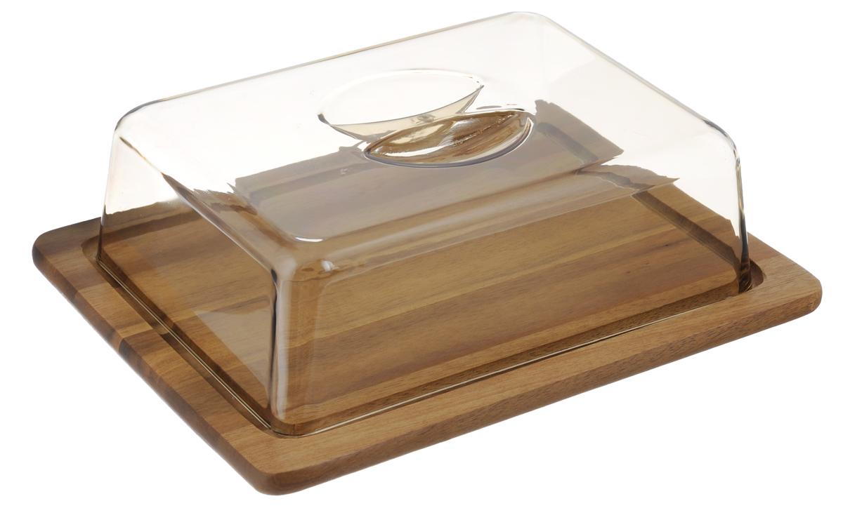 Доска разделочная Kesper, с крышкой, 25,5 х 20 см5664-3Разделочная доска Kesper прямоугольной формы изготовлена из прочного высококачественного дерева. Деревянные разделочные доски имеют массу преимуществ: они долговечны, не затупляют ножи, эколически чистые, безопасны для пищевых продуктов. Доска снабжена пластиковой прозрачной крышкой, которая плотно устанавливается, благодаря специальным выемкам. Теперь нарезанные продукты можно не перекладывать в отдельную посуду, а хранить прямо на разделочной доске. Изделие идеально подойдет для сыра, хлеба, колбасных изделий и многого другого. Полезное и практичное приобретение для вашей кухни. Размер разделочной доски: 25,5 х 20 см. Размер крышки: 22 х 16 х 7 см.