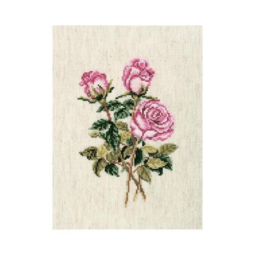Набор для вышивания крестом RTO Розы на льняной ткани, 13 х 18 смC179Красивый рисунок-вышивка, выполненный на канве, выглядит оригинально и всегда модно. Работа, сделанная своими руками, создаст особый уют и атмосферу в доме и долгие годы будет радовать вас и ваших близких. Набор для вышивания содержит все необходимые материалы. Вышивка выполняется швом счетный крест. В состав набора входит: - канва Aida 16 льняного цвета (44% хлопок, 39% вискоза, 17% лен; 6,4 клеток = 1 см; рисунок не нанесен), - вышивальные нитки-мулине DMC на карте, разобранные по цветам (20 цветов, 100% хлопок), - символьная схема, - инструкция, - игла для вышивания.