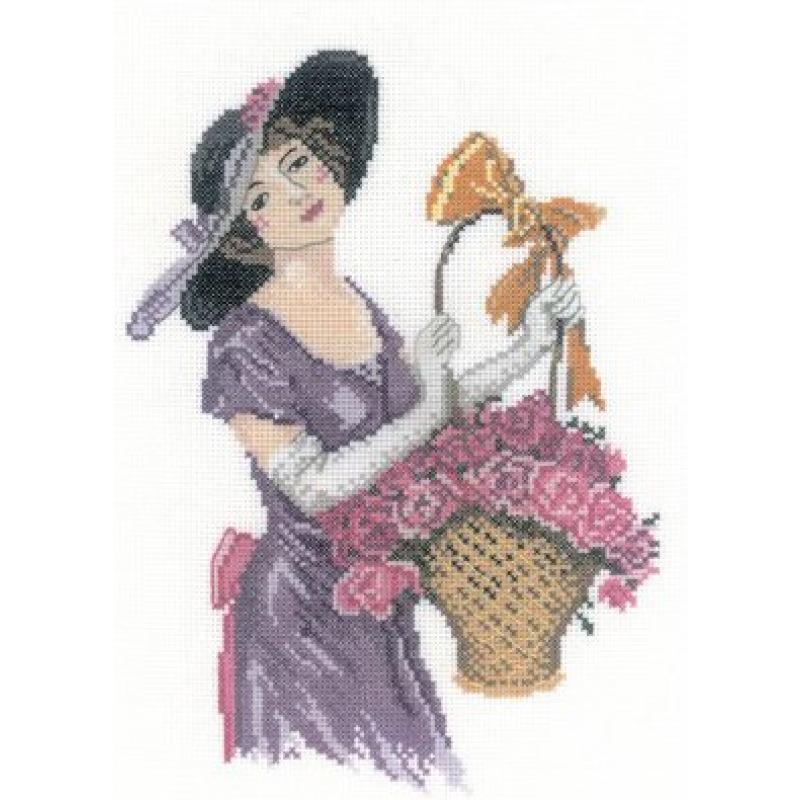 Набор для вышивания крестом RTO Прелестная цветочница, 15 х 21 смC157Красивый рисунок-вышивка, выполненный на канве, выглядит оригинально и всегда модно. Работа, сделанная своими руками, создаст особый уют и атмосферу в доме и долгие годы будет радовать вас и ваших близких. Набор для вышивания содержит все необходимые материалы. Вышивка выполняется швом счетный крест. В состав набора входит: - канва Aida 18 белого цвета (100% хлопок; 7 клеток = 1 см; рисунок не нанесен), - вышивальные нитки-мулине DMC на карте, разобранные по цветам (23 цвета, 100% хлопок), - символьная схема, - инструкция, - игла для вышивания.