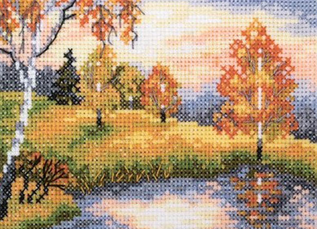 Набор для вышивания крестом RTO Осенний лес, 11 х 7,5 смEH343Красивый рисунок-вышивка, выполненный на канве, выглядит оригинально и всегда модно. Работа, сделанная своими руками, создаст особый уют и атмосферу в доме и долгие годы будет радовать вас и ваших близких. Набор для вышивания содержит все необходимые материалы. Вышивка выполняется швом счетный крест в одну нить мулине. В состав набора входит: - канва Aida 18 белого цвета (100% хлопок; 7 клеток = 1 см; рисунок не нанесен), - вышивальные нитки-мулине DMC на карте, разобранные по цветам (16 цветов, 100% хлопок), - символьная схема, - инструкция, - игла для вышивания.
