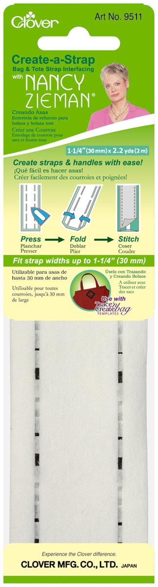 Заготовка для изготовления ремней и ручек для сумок Clover, 3 см9511Заготовка Clover позволяет создавать крепкие ремни и ручки для сумок своими руками при помощи утюга. Изделие выполнено из полиэстера и вискозы. Ширина готового изделия составляет 30 мм. Длина заготовки: 2 м. Ширина готового изделия: 30 мм.
