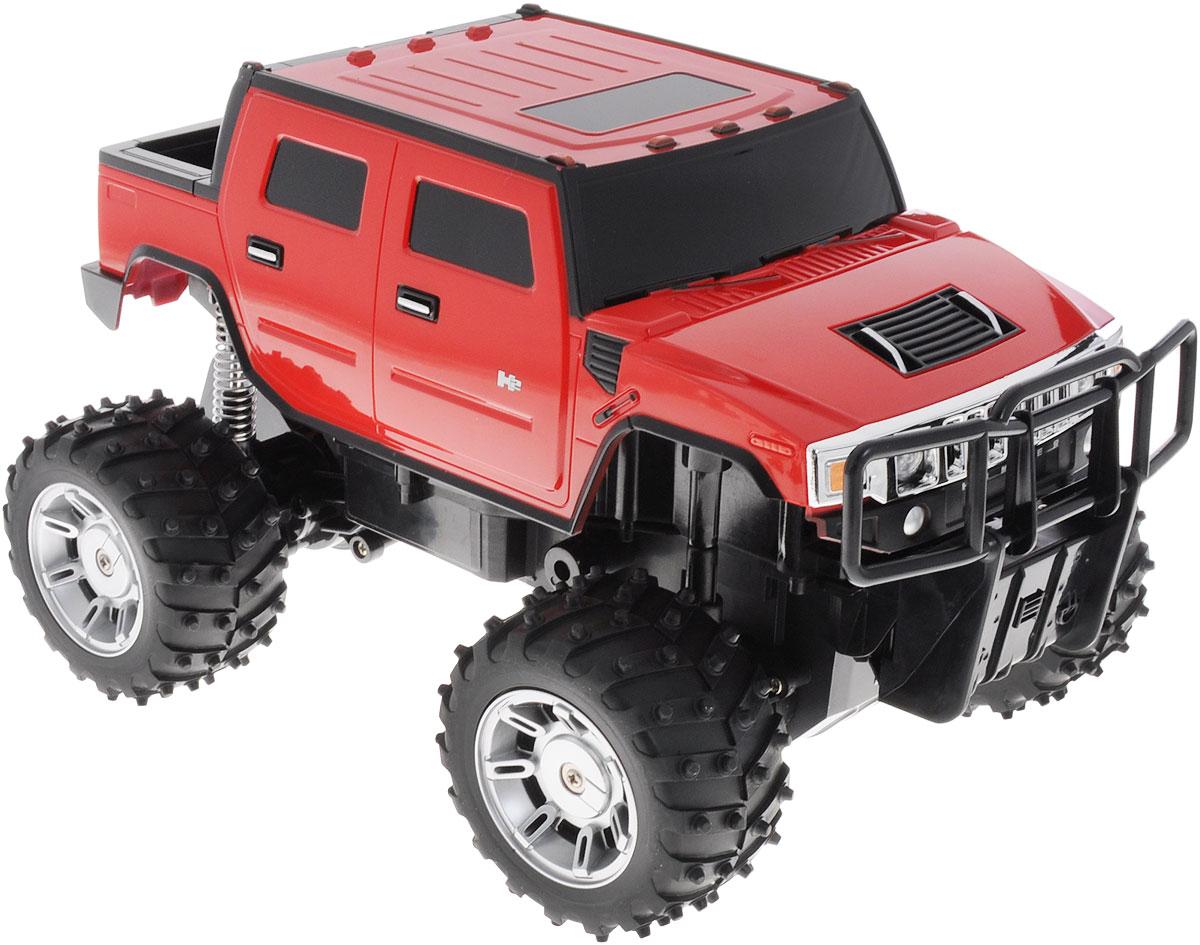 Rastar Радиоуправляемая модель Hummer H2 цвет красный масштаб 1:1428100/28800Радиоуправляемая модель Rastar Hummer H2 станет отличным подарком любому мальчику! Все дети хотят иметь в наборе своих игрушек ослепительные, невероятные и модные автомобили на радиоуправлении. Тем более, если это автомобиль известной марки с проработкой всех деталей, удивляющий приятным качеством и видом. Одной из таких моделей является автомобиль на радиоуправлении Rastar Hummer H2. Это точная копия настоящего авто в масштабе 1:14. Автомобиль обладает неповторимым провокационным стилем и спортивным характером. Потрясающая маневренность, динамика и покладистость - отличительные качества этой модели. Возможные движения: вперед, назад, вправо, влево, остановка. При движении загораются фары и стоп-сигналы. Игрушка работает от сменного аккумулятора (входит в комплект). Для работы пульта управления необходима 1 батарейка типа Крона (не входит в комплект).