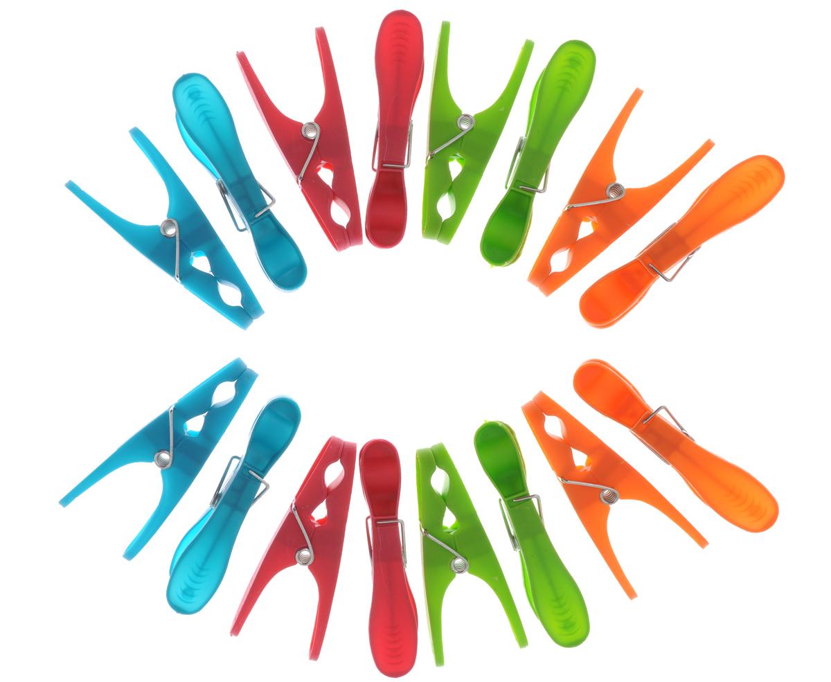 Прищепки бельевые York Extra, 16 шт9602Прищепки York Extra, изготовленные из пластика, станут незаменимым аксессуаром для любой хозяйки. Изделия выполнены в четырех цветах: зеленом, малиновом, голубом и оранжевом. В наборе - 16 прищепок. Длина прищепки: 8,3 см.