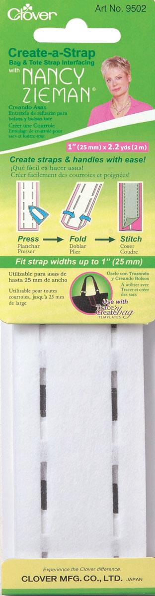 Заготовка для изготовления ремней и ручек для сумок Clover, 2,5 см9502Заготовка Clover позволяет создавать крепкие ремни и ручки для сумок своими руками при помощи утюга. Изделие выполнено из полиэстера и вискозы. Длина заготовки: 2 м. Ширина готового изделия: 25 мм.