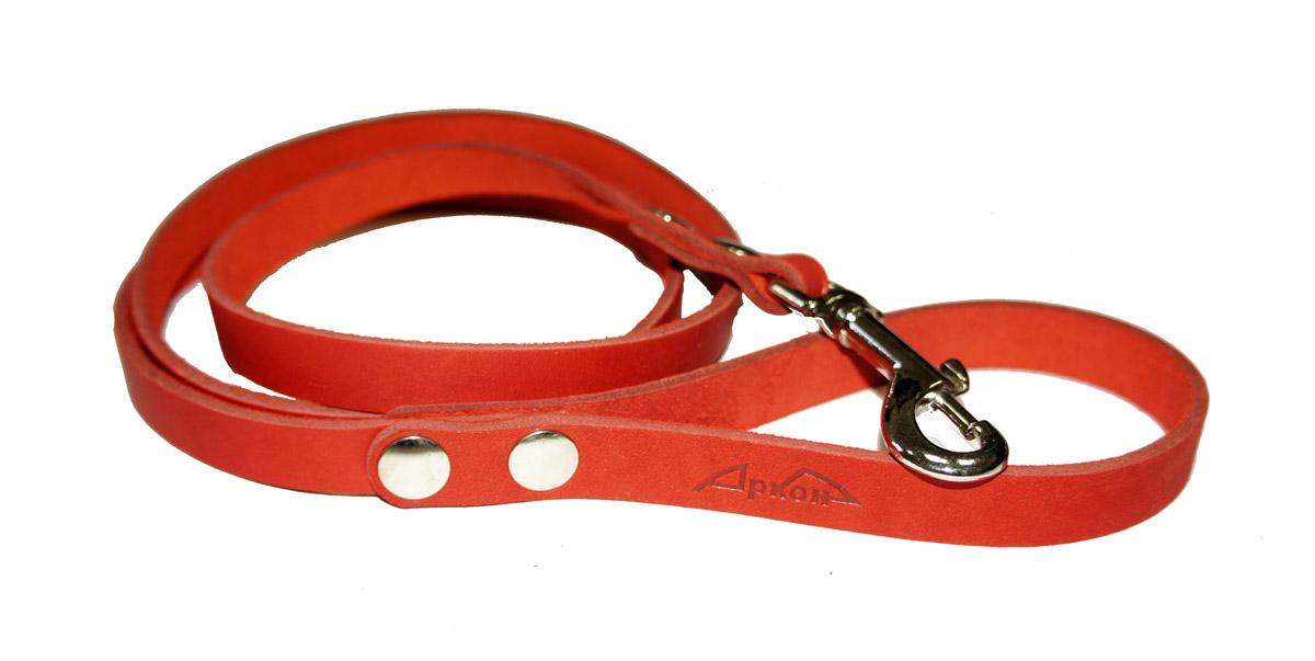 Поводок для собак Аркон Стандарт, цвет: красный, ширина 1,4 см, длина 140 смп14крПоводок для собак Аркон Стандарт изготовлен из высококачественной натуральной кожи. Карабин выполнен из легкого сверхпрочного сплава. Изделие отличается не только исключительной надежностью и удобством, но и привлекательным современным дизайном. Поводок - необходимый аксессуар для собаки. Ведь в опасных ситуациях именно он способен спасти жизнь вашему любимому питомцу. Иногда нужно ограничивать свободу своего четвероногого друга, чтобы защитить его или себя от неприятностей на прогулке. Длина поводка: 140 см. Ширина поводка: 1,4 см.