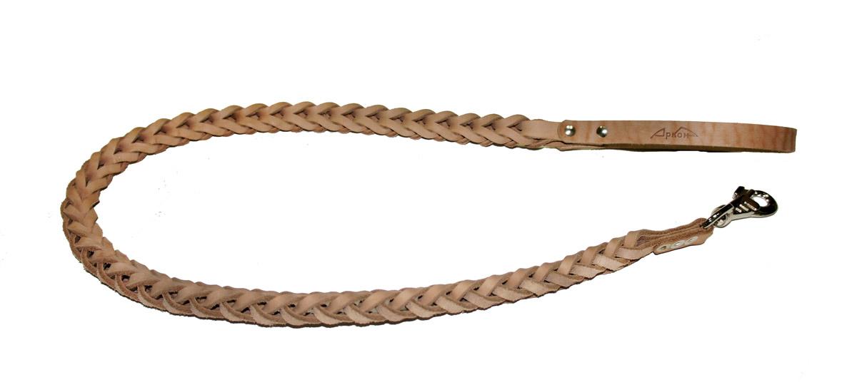 Поводок для собак Аркон Плетенка квадратная, цвет: бежевый, ширина 2,3 см, длина 120 смпл12квПоводок для собак Аркон Плетенка квадратная изготовлен из высококачественной натуральной кожи в виде объемного плетения. Карабин выполнен из легкого сверхпрочного сплава. Изделие отличается не только исключительной надежностью и удобством, но и привлекательным современным дизайном. Поводок - необходимый аксессуар для собаки. Ведь в опасных ситуациях именно он способен спасти жизнь вашему любимому питомцу. Иногда нужно ограничивать свободу своего четвероногого друга, чтобы защитить его или себя от неприятностей на прогулке. Длина поводка: 120 см. Ширина поводка: 2,3 см.