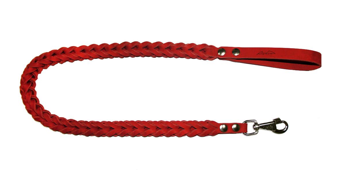 Поводок для собак Аркон Плетенка квадратная, цвет: красный, ширина 2,8 см, длина 120 смпл16квкрПоводок для собак Аркон Плетенка квадратная изготовлен из высококачественной натуральной кожи в виде объемного плетения. Карабин выполнен из легкого сверхпрочного сплава. Изделие отличается не только исключительной надежностью и удобством, но и привлекательным современным дизайном. Поводок - необходимый аксессуар для собаки. Ведь в опасных ситуациях именно он способен спасти жизнь вашему любимому питомцу. Иногда нужно ограничивать свободу своего четвероногого друга, чтобы защитить его или себя от неприятностей на прогулке. Длина поводка: 120 см. Ширина поводка: 2,8 см.