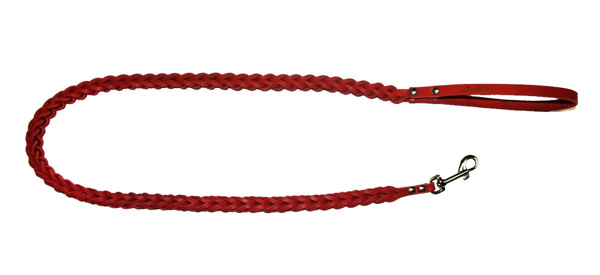 Поводок для собак Аркон Плетенка квадратная, цвет: красный, ширина 1,6 см, длина 120 смпл8квкрПоводок для собак Аркон Плетенка квадратная изготовлен из высококачественной натуральной кожи в виде объемного плетения. Карабин выполнен из легкого сверхпрочного сплава. Изделие отличается не только исключительной надежностью и удобством, но и привлекательным современным дизайном. Поводок - необходимый аксессуар для собаки. Ведь в опасных ситуациях именно он способен спасти жизнь вашему любимому питомцу. Иногда нужно ограничивать свободу своего четвероногого друга, чтобы защитить его или себя от неприятностей на прогулке. Длина поводка: 120 см. Ширина поводка: 1,6 см.