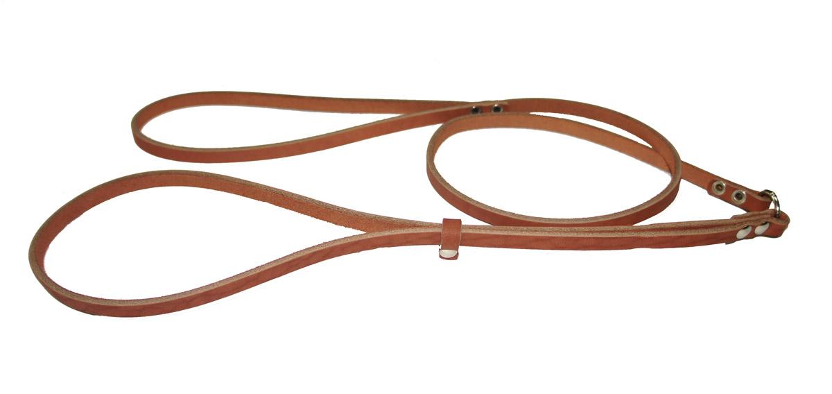 Ринговка для собак Аркон Стандарт, цвет: коньячный, ширина 0,8 см, длина 110 смр8кРинговка Аркон Стандарт - это специальный поводок, состоящий из петли с фиксатором и, собственно, поводка. Выполнена из натуральной кожи, фурнитура - из высококачественного металла. Ринговка является самым распространенным видом амуниции для показа собаки на выставке или занятий рингдрессурой. Ринговку подбирают в тон окраса собаки, если собака пятнистая - то в тон преобладающего окраса или, наоборот, контрастную. Ширина: 0,8 см. Длина: 110 см.