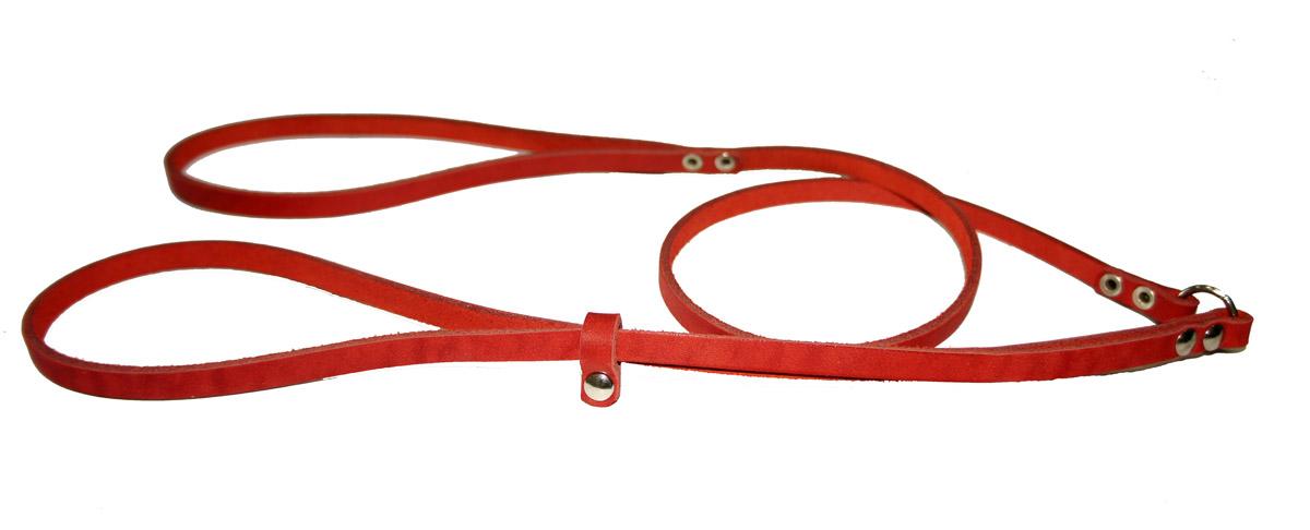 Ринговка для собак Аркон Стандарт, цвет: красный, ширина 0,8 см, длина 110 смр8крРинговка Аркон Стандарт - это специальный поводок, состоящий из петли с фиксатором и, собственно, поводка. Выполнена из натуральной кожи, фурнитура - из высококачественного металла. Ринговка является самым распространенным видом амуниции для показа собаки на выставке или занятий рингдрессурой. Ринговку подбирают в тон окраса собаки, если собака пятнистая - то в тон преобладающего окраса или, наоборот, контрастную. Ширина: 0,8 см. Длина: 110 см.