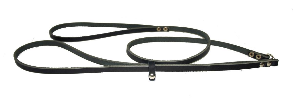 Ринговка для собак Аркон Стандарт, цвет: черный, ширина 0,8 см, длина 110 смр8чРинговка Аркон Стандарт - это специальный поводок, состоящий из петли с фиксатором и, собственно, поводка. Выполнена из натуральной кожи, фурнитура - из высококачественного металла. Ринговка является самым распространенным видом амуниции для показа собаки на выставке или занятий рингдрессурой. Ринговку подбирают в тон окраса собаки, если собака пятнистая - то в тон преобладающего окраса или, наоборот, контрастную. Ширина: 0,8 см. Длина: 110 см.