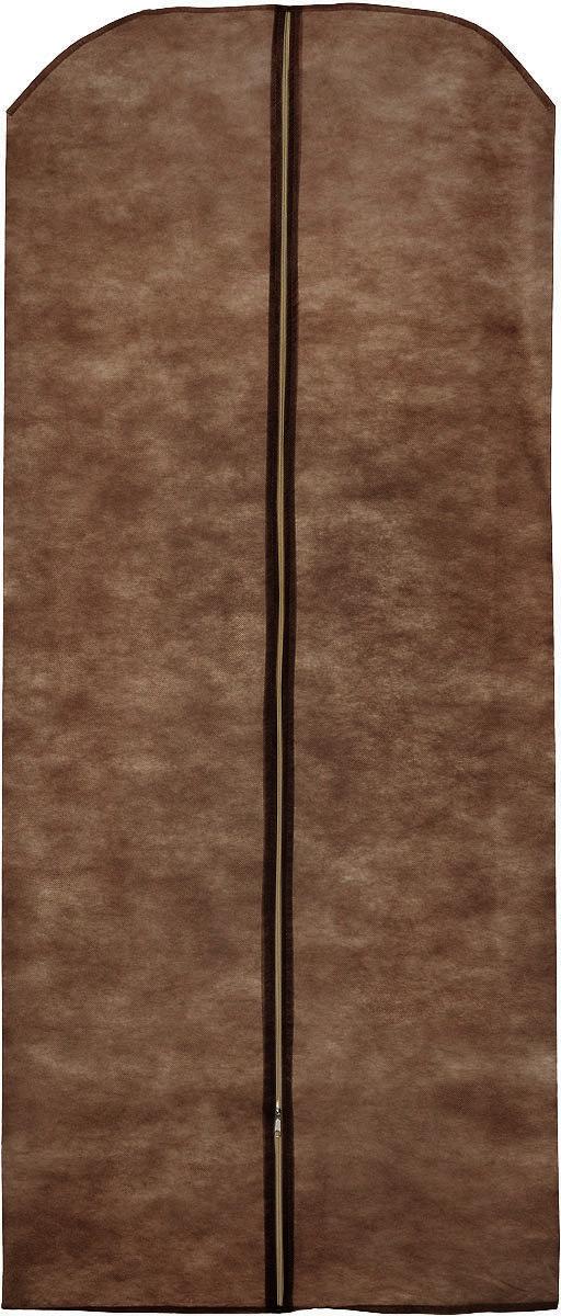 Чехол для одежды Eva, цвет: коричневый, 85 х 150 смЕ17_коричневыйЧехол для одежды Eva выполнен из полипропилена. Чехол обеспечивает вашей одежде надежную защиту от влажности, повреждений и грязи при транспортировке, от запыления при хранении. Изделие обладает водоотталкивающими свойствами, а также позволяет воздуху свободно поступать внутрь вещей, обеспечивая их кондиционирование. Закрывается на молнию. Рекомендуется только ручная стирка.