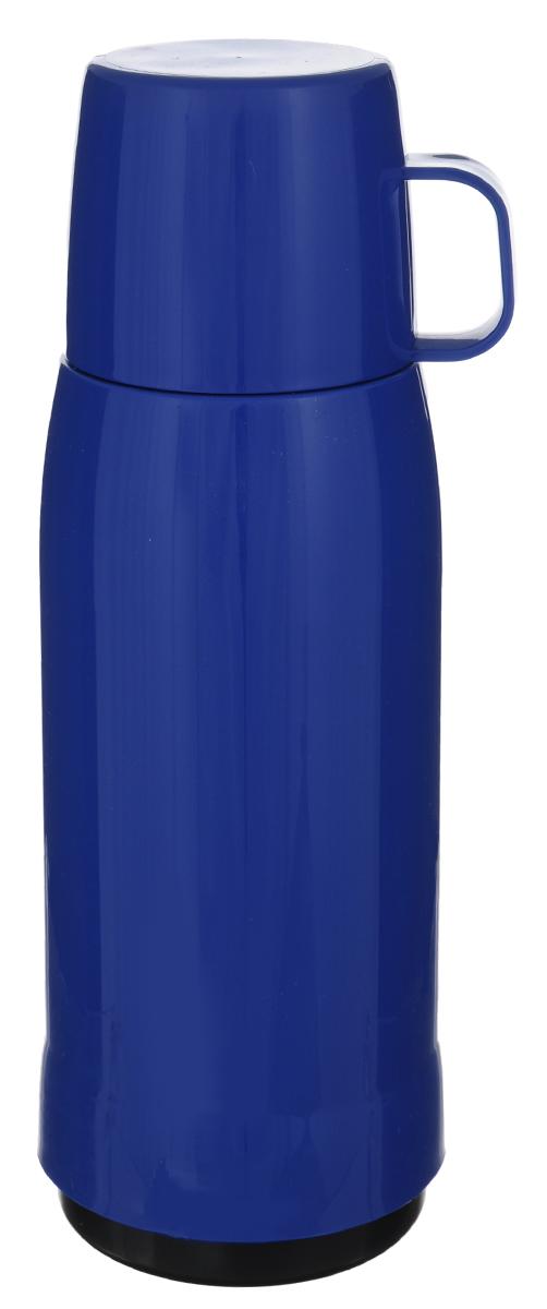Термос Emsa Rocket, цвет: синий, 1 л502448Термос Emsa Rocket выполнен из прочного цветного пластика со стеклянной колбой. Термос прост в использовании и очень функционален. Оснащен герметичным клапаном и крышкой, которую можно использовать в качестве стакана. Легкий и прочный термос Emsa Rocket сохранит ваши напитки горячими или холодными надолго. Высота (с учетом крышки): 32 см. Диаметр горлышка: 6,3 см. Диаметр дна: 9,5 см. Размер крышки (без учета ручки): 8 х 8 х 6,7 см. Сохранение холода: 24 ч. Сохранение тепла: 12 ч.