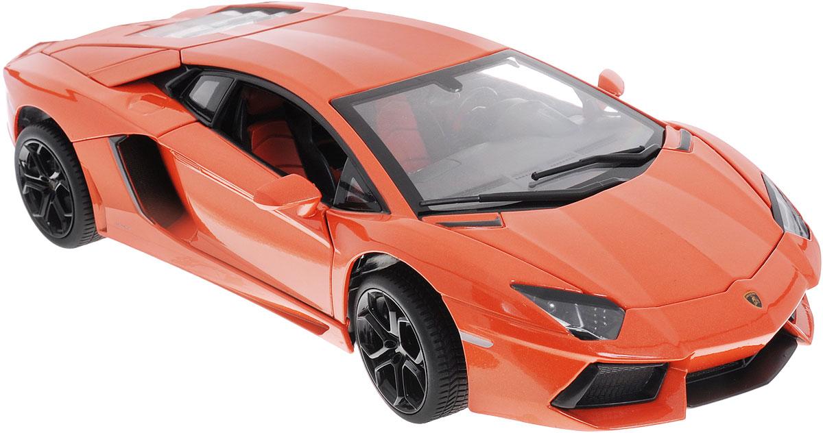 Rastar Модель автомобиля Lamborghini Aventador LP700-461300Коллекционная модель Rastar Lamborghini Aventador LP700-4 привлечет внимание не только ребенка, но и взрослого коллекционера. Машинка является точной уменьшенной копией настоящего автомобиля, воспроизведенной в масштабе 1/18. Модель выполнена из металла с использованием пластика и оснащена резиновыми колесами, обеспечивающими хорошее сцепление с поверхностью пола. Внутренний интерьер воссоздан с необыкновенной точностью. Колеса и руль модели вращаются, багажник и дверцы открываются. Коллекционная модель Rastar  Lamborghini Aventador LP700-4 станет отличным подарком и украшением любой коллекции!