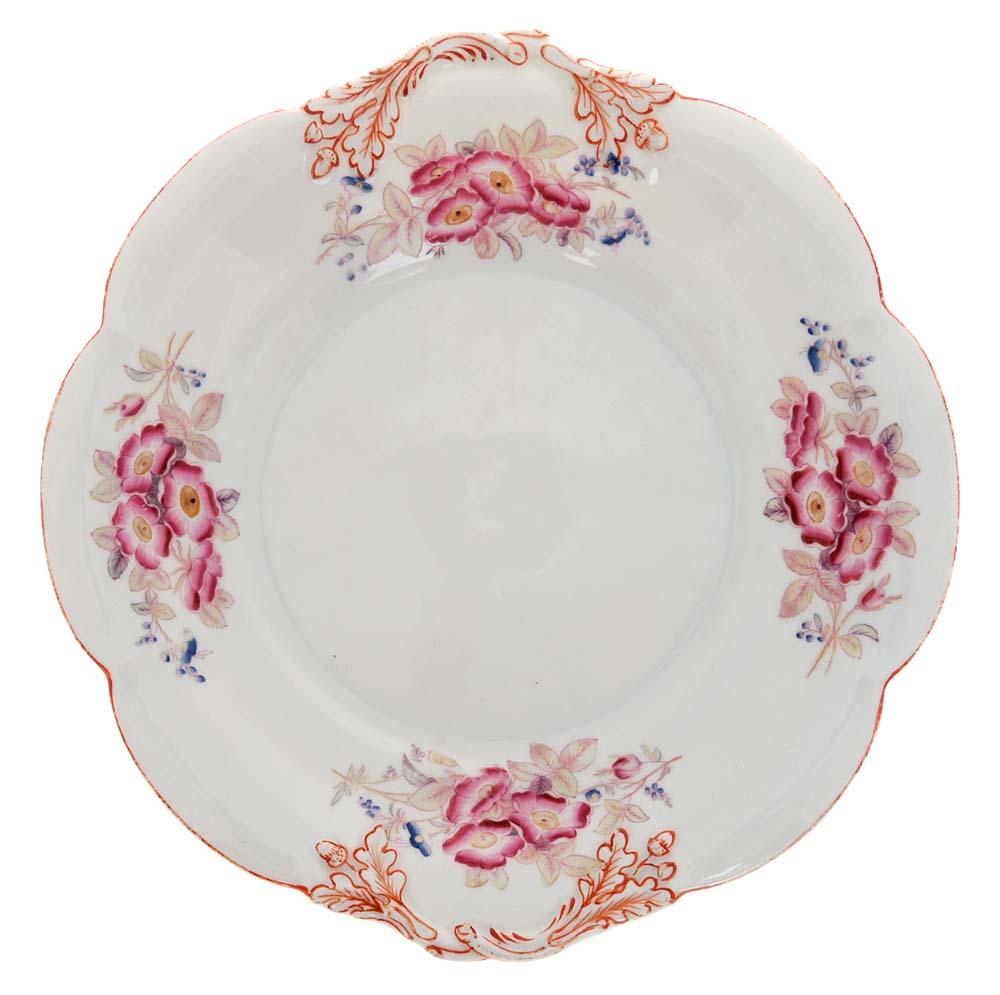 Блюдо для пирожных и кексов. Фарфор, роспись. Великобритания, начало ХХ века