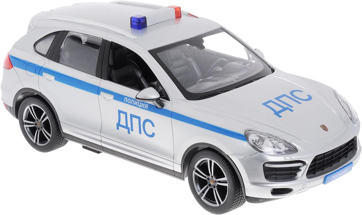 Rastar Радиоуправляемая модель Porsche Cayenne Turbo Полиция ДПС42900-51Радиоуправляемая модель Rastar Porsche Cayenne Turbo Полиция ДПС обязательно привлечет внимание взрослого и ребенка и понравится любому, кто увлекается автомобилями. Все дети хотят иметь в наборе своих игрушек ослепительные, невероятные и крутые автомобили на радиоуправлении. Тем более если это автомобиль известной марки с проработкой всех деталей, удивляющий приятным качеством и видом. Маневренная и реалистичная уменьшенная копия Porsche Cayenne Turbo Полиция ДПС, выполнена в точной детализации с настоящим автомобилем в масштабе 1:14. Управление машиной происходит с помощью удобного пульта. Автомобиль двигается вперед и назад, поворачивает направо и налево. Имеются световые эффекты. Модель изготовлена из пластика с металлическими элементами. Колеса игрушки прорезинены и обеспечивают плавный ход, машина не портит напольное покрытие. Радиоуправляемые игрушки способствуют развитию координации движений, моторики и ловкости. Ваш ребенок часами будет играть с...