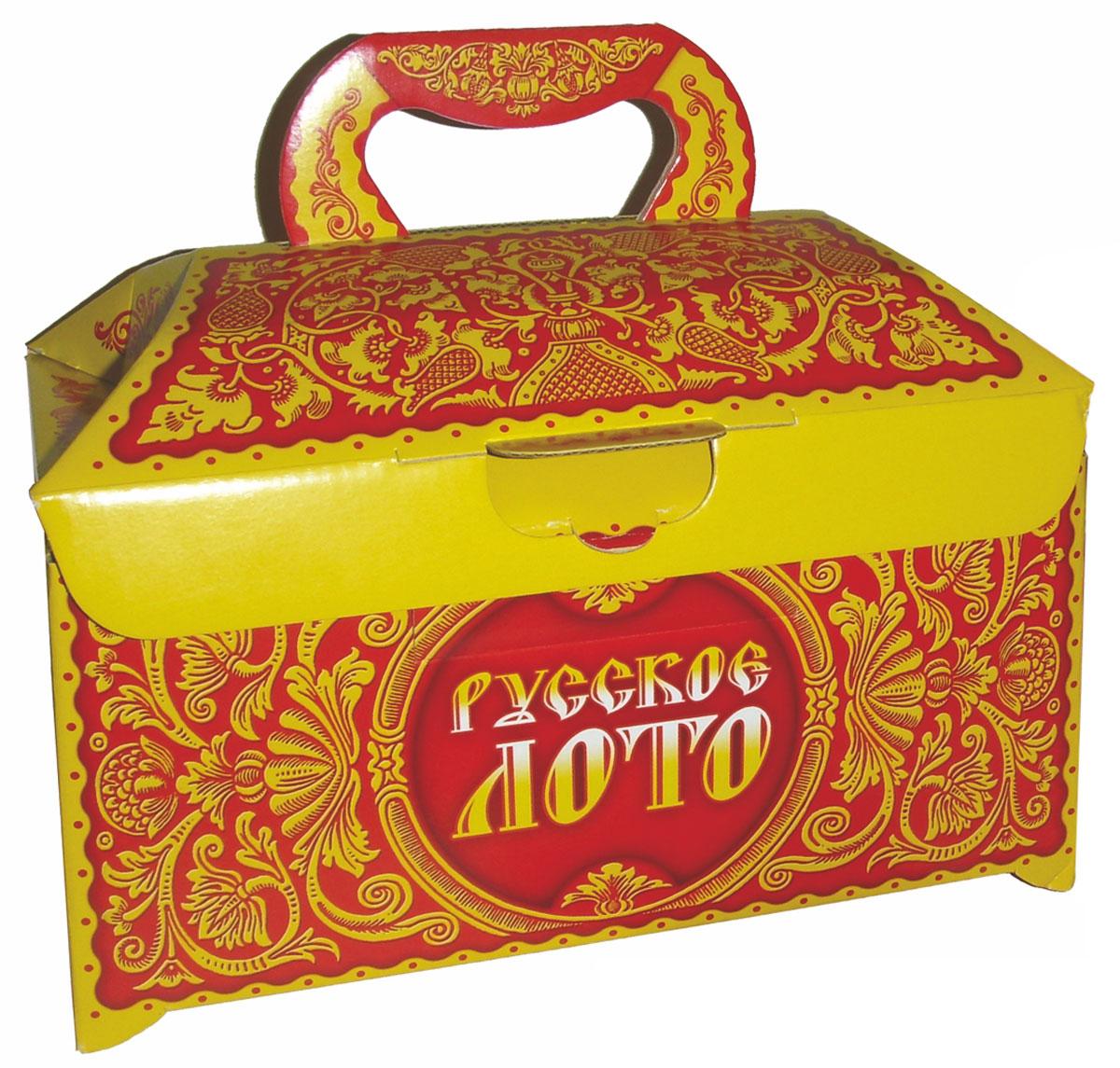 Дрофа-Медиа Настольная игра Русское Лото1969Русское лото - это старинная русская игра, правила которой предельно просты и всем известны. Традиционная российская игра, о существовании которой знает каждый. Суть игры состоит в том, чтобы первым закрыть определенное количество цифр на своей карточке. Благодаря простым правилам и увлекательности, игра Русское Лото завоевала огромную популярность и встала в один ряд с такими развлечениями для большой веселой компании, как домино и карты. Лото способствует развитию наглядно-образного мышления, познавательной активности, памяти и внимания, коммуникабельности. Набор поставляется в ярком прочном картонном ларце.