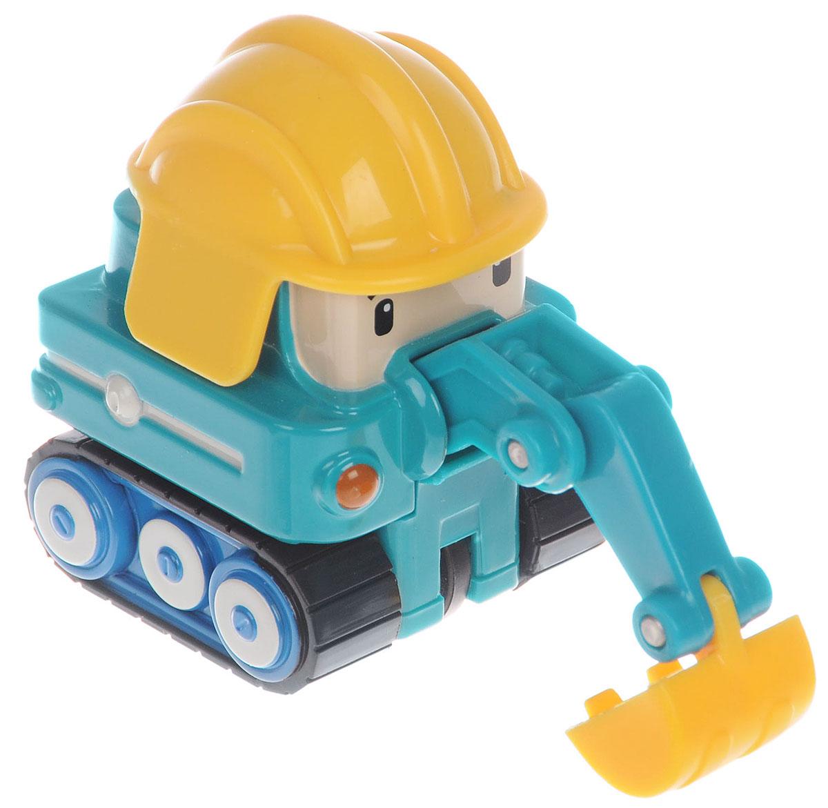 Robocar Poli Экскаватор Пок83177Яркая игрушка Poli Экскаватор Пок непременно понравится вашему малышу. Она выполнена из металла с элементами пластика в виде экскаватора Пока - персонажа популярного мультсериала Robocar Poli. Пок оснащен поднимающимся ковшом и колесиками со свободным ходом, позволяющими катать машинку. Благодаря небольшому размеру ребенок сможет взять игрушку с собой на прогулку, в поездку или в гости. Порадуйте своего малыша таким замечательным подарком!