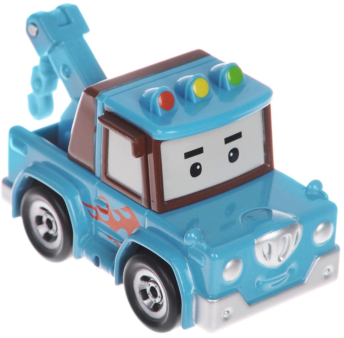 Robocar Poli Эвакуатор Спуки83166Яркая игрушка Poli Эвакуатор Спуки непременно понравится вашему малышу. Она выполнена из металла с элементами пластика в виде эвакуатора Спуки - персонажа популярного мультсериала Robocar Poli. Спуки оснащен поднимающимся элементов с крюком для буксировки машинок, а также колесиками со свободным ходом, позволяющими катать игрушку. Благодаря небольшому размеру ребенок сможет взять машинку с собой на прогулку, в поездку или в гости. Порадуйте своего малыша таким замечательным подарком!