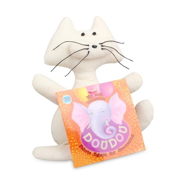 Основа для декора RTO Doudou. Кот, 11 х 4,5 х 13 смST-25Основа RTO Doudou. Кот предназначена для декорирования. Изделие выполнено из 100% хлопка, наполнитель - полиэстер. Игрушку можно раскрасить, сделать декупаж на ткани, расшить бисером или пайетками - и получится отличный талисман, который можно подарить другу или оставить себе!