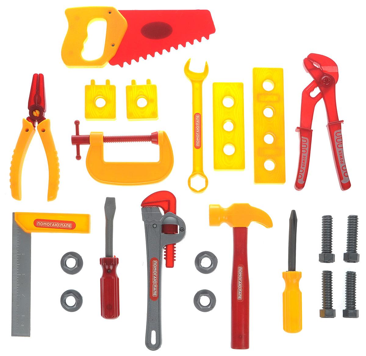 ABtoys Набор инструментов 22 предметаPT-00140(0713Q-2)Набор инструментов ABtoys - отличный способ научить мальчика с самого детства быть хозяином в доме. Набор инструментов, содержащий 22 предмета домашнего обихода, поможет ребенку в игровой форме освоить все дальнейшие навыки. Набор инструментов ABtoys выполнен из прочного и совершенно безопасного пластика, который обязательно понравится вашему ребенку! С таким набором ваш ребенок сможет играть как в доме, так и на улице.