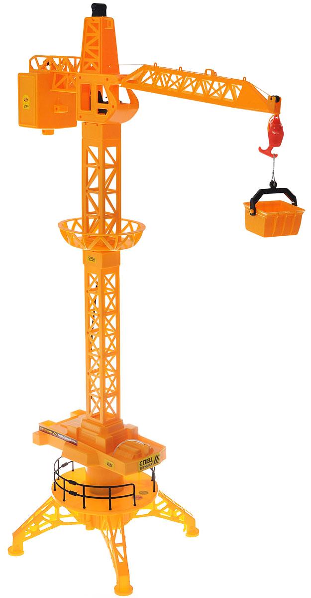 ABtoys Подъемный кран на радиоуправленииC-00141(6806A)Подъемный кран на радиоуправлении ABtoys повторяет внешние и функциональные особенности своего оригинального прототипа. Изделие выполнено из высококачественного и прочного материала. Башня крана поворачивается на 680°, стрела - выдвигается и поднимается. В комплекте имеется грузовой контейнер. Кабина изготовлена очень реалистично - с рулем, сиденьем для водителя и декоративной панелью управления. Управление краном происходит от пульта управления. Теперь юный строитель без труда построит высокий дом, ведь этот кран поможет сделать это без особых усилий. Игрушка способствует развитию у детей фантазии и воображения, ведь им предстоит самим придумать сюжет для игры и представить себя в роли специалиста, управляющего стрелой этого сложного вида строительной техники. Порадуйте своего ребенка таким замечательным подарком! Игрушка работает от 3 батареек напряжением 1,5V типа АА (не входят в комплект), пульт управления работает 2 батареек напряжением...