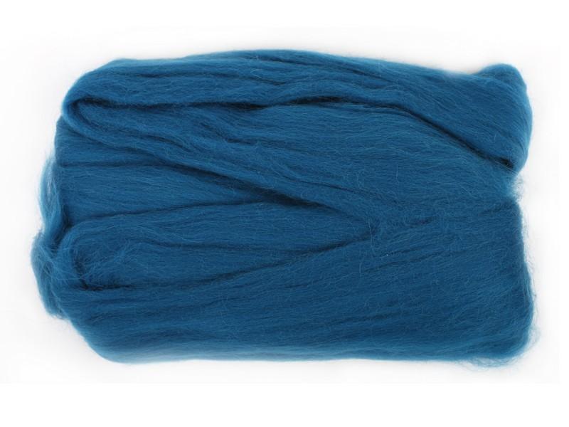 Шерсть для валяния RTO, цвет: морская волна (22), 50 гWF50/22Шерсть для валяния RTO идеально подходит для сухого и мокрого валяния. Шерсть RTO не линяет при валянии и последующей стирке, легко расчесывается и разделяется на пряди. Готовые изделия из натуральной шерсти RTO хорошо поддаются покраске и тонированию. Валяние шерсти - это особая техника рукоделия, в процессе которой из шерсти для валяния создается рисунок на ткани или войлоке, объемные игрушки, панно, декоративные элементы, предметы одежды или аксессуары. Только натуральная шерсть обладает способностью сваливаться или свойлачиваться.