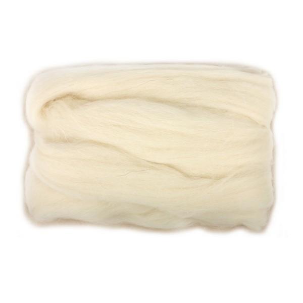 Шерсть для валяния RTO, цвет: молочный (01), 50 гWF50/01Шерсть для валяния RTO идеально подходит для сухого и мокрого валяния. Шерсть RTO не линяет при валянии и последующей стирке, легко расчесывается и разделяется на пряди. Готовые изделия из натуральной шерсти RTO хорошо поддаются покраске и тонированию. Валяние шерсти - это особая техника рукоделия, в процессе которой из шерсти для валяния создается рисунок на ткани или войлоке, объемные игрушки, панно, декоративные элементы, предметы одежды или аксессуары. Только натуральная шерсть обладает способностью сваливаться или свойлачиваться.