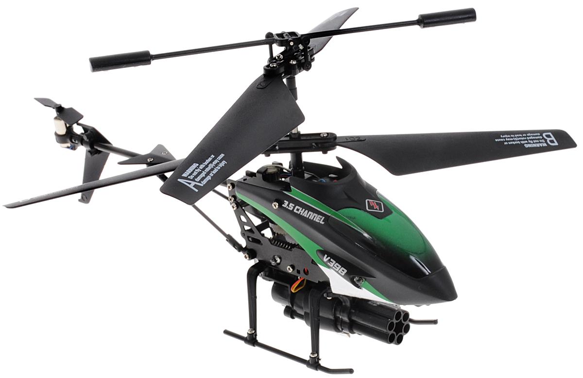 ABtoys Вертолет на инфракрасном управлении РакетоносецC-00106(V398)Современные мальчишки знают толк в ведении боевых действий. Однако родители могут помочь направить игру в более серьезное русло. Например, купить вертолет на дистанционном управлении. Вертолет на инфракрасном управлении ABtoys Ракетоносец - не просто игрушка, а целый мир военной техники, призванной служить верой и правдой своему полководцу. К тому же, новый вертолет идеально подходит для игр как дома, так и на улице. Особенности: В комплекте 8 ракет, для запуска с пусковой установки, расположенной под днищем вертолета. Пуск ракет осуществляется по очереди по команде с пульта. С пульта управления вертолётом можно включить или выключить курсовой прожектор. Встроенный гироскоп, обеспечивающий устойчивость вертолёта в полёте, функция зависания в воздухе, 3,5 канала управления, пропорциональный триммер для выравнивания полёта делают этот вертолет идеальным для игры как внутри помещения, так и на улице. Встроенный улучшенный литий-полимерный...