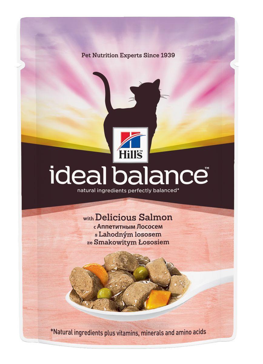 """Консервы для кошек Hill's """"Ideal Balance"""", с аппетитным лососем, 85 г 10025"""